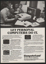 1979 COMPUTERLAND Computer Store - APPLE Computer - Dial-Up Modem - VINTAGE AD