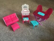 Barbie Dream House 2013 Replacement Furniture Table Chairs Couch Vanity