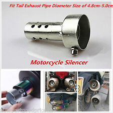 New Universal Motorcycle Tail Exhaust Can Muffler Baffle DB Killer Silencer 48mm