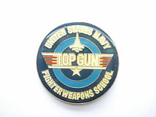 TOP GUN TOM CRUISE US UNITED STATES NAVY FILM MOVIE JET AEROPLANE PIN BADGE 99p