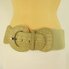 "New Women Belt Fashion Hip High Waist Beige Nude Elastic Plus Size M L XL 32-45"""