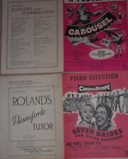 CAROUSEL SEVEN BRIDES SEVEN BROS SONG DANCE ALBUM VINTAGE WORDS MUSIC BOOK SHEET