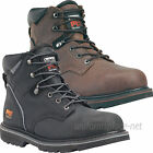 "Timberland PRO Boots Mens Pit Boss 6"" Soft or Steel Toe Leather Boot Brown Black"