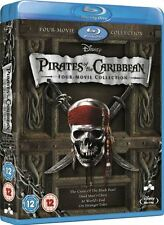 Pirates of the Caribbean: Four Movie Complete Collection 1 2 3 4 (Blu-Ray) NEW