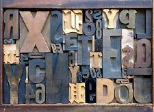 Antique Letterpress Printers WOOD TYPE Mix 51 Pieces