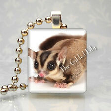 SUGAR GLIDER Altered Art Scrabble Tile Pendant Jewelry Charm