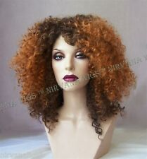 2Tone Brown with Copper Tips Afro Spiral Curls Fizz  Wig/wigs