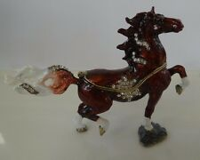 Beautiful Horse Jeweled Trinket Box with Austrian Crystals.