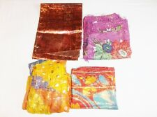 Vintage Metalic head scarves and wraps India Japan Pakistan and ?