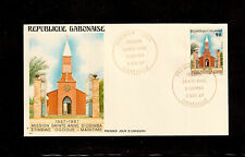 GABON 1987 FIRST DAY COVER #624 MISSION SAINTE ANNE D'ODIMBA !!