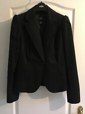 Gap Black Blazer With Puff Sleeve Uk 10
