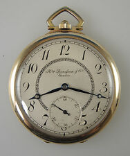 Solid 14K Gold Pocket Watch by H. GRANDJEAN & Cie, Geneva c1910