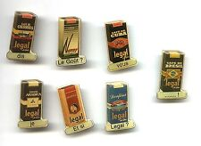 7 advertising pins Cafe de Colombia Brasil Arabica -  Coffee company FOOD badges