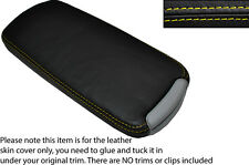YELLOW STITCH LEATHER ARMREST LID SKIN COVER FITS LEXUS IS200 IS220 IS250 06-12