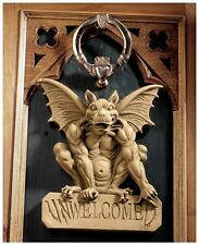 Gothic Gargoyle UNWelcomeD Home Garden Wall Plaque