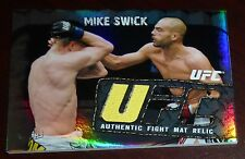 Mike Swick 2010 Topps Main Event Fight Used Mat Relic UFC Card #FMR-MS 58 60 105