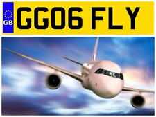 GG06 FLY PILOT PILOTS PLANE AIRCRAFT HOT AIR BALOON NUMBER PLATE HELICOPTER FLY