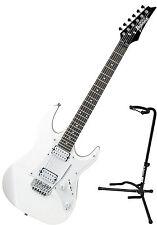 Ibanez GRX20W White GIO Series Poplar Body Electric Guitar Bundle with Stan