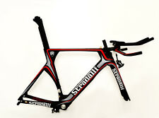 STRADALLI GRAY CARBON FIBER TRIATHLON TIME TRIAL BIKE BICYCLE FRAME TT 50 SMALL