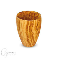 Vaso taza vorratsbehälte R de olivenholz 10,5 cm desde italia hecho a mano nuevo