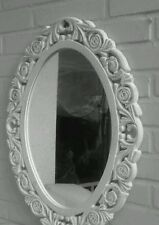 Dressing Room Mirror Wall Brocade Floor 59x46cm Shabby White Ornament