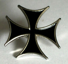 Metal Enamel Pin Badge Brooch Cross Maltese Malta Iron Cross Black
