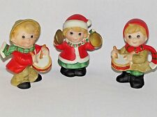 3 HOMCO Christmas Figurines Children with Musical Instruments Drums Cymbals