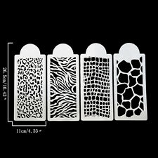 4x/Set Cake Stencil Fondant Molds Cakes And Cupcakes Stencil Baking Cake ToolsFG