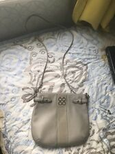 NWOT Coach Signature Grey Pebbled Leather Collette Slim Crossbody Bag J1020
