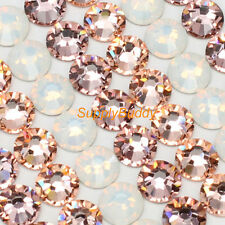 Swarovski Flatback Crystal ss12 Mix Color White Opal Silk Vintage Rose Nail Art