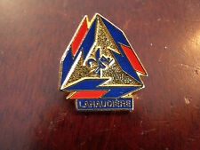 Collectible Enamel Pin Lanaudière Québec Gold Red & Blue