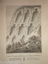 Antiquarian Engraving of Olerdola Ancient Sepulchural Remains c1806 Catalonia