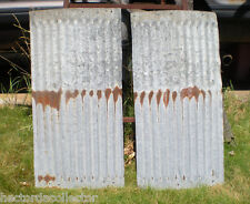 2 Pcs 15 x 30 Antique Galvanized Tin Steel Wainscoting Barn Shed Chic