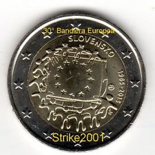 NEW !!! 2 EURO COMMEMORATIVO SLOVACCHIA 2015 30° BANDIERA EUROPEA NEW !!!