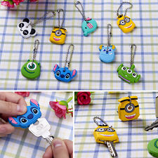 4X Kawaii Animal Silicone Key Caps Covers Keychain Shell Topper Phone Strap