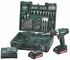 Metabo BS18 LI 18V Trapano Set Mobile Workshop 2 x 2.0 AH BATTERIE E ACCESSORI