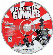 PACIFIC GUNNER Classic Naval Combat Strategy Shooter PC Game NEW for Windows XP