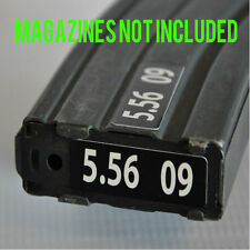 STICKERS for USGI METAL MAGAZINES 5.56 WHITE NUMBERED 6-10