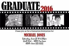 Graduation Photo Filmstrip Invitation Announcement Any Color 10 Invitations