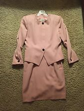 Stunning Christian Dior Vintage Couture Pink SKIRT SUIT SET SIZE 8