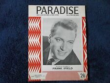 FRANK IFIELD - PARADISE, 1965 Original Sheet Music, 6 Pages,Music By Nacio Brown