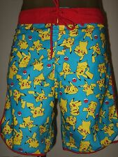 Men's 2X 38 Pokemon Pikachu Anime Game character Beach Swim Trunks Board Shorts