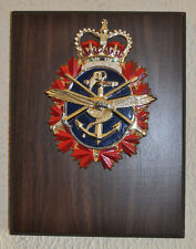 Large Canadian Forces regimental mess wall plaque Canada CF