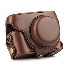 New Leather Camera Bag Case Cover Protectorfor Panasonic Lumix DMC LX7 Coffee PU