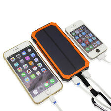 UK 50000mAh Portable Solar Power Bank USB Battery Charger For iPhone 6 6S Orange