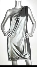 Vince Camuto Metallic Silver One Shoulder Party Dress Women's Size 10 NWT