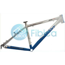 "New GIANT ATX PRO Alloy MTB Mountain Bike Frame BSA 26er 19"" Size M Blue Silver"