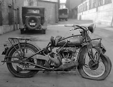 1931 Indian Scout Motorcycle Front end Wreck 8 x 10 Photograph