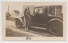"""Vintage Photo WOMAN """"RUTH"""" FUR COAT CAR AUTOMOBILE CLEVELAND HEIGHTS OH 1929 P01"""