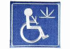 Handicap Stoner With Bong FUNNY Weed 420 Marijuana Ada MC Biker Patch PAT-2902